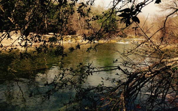 river, water, crossing