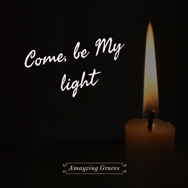 Come be My light, Mother Theresa, Jesus, candle in the darkness, light