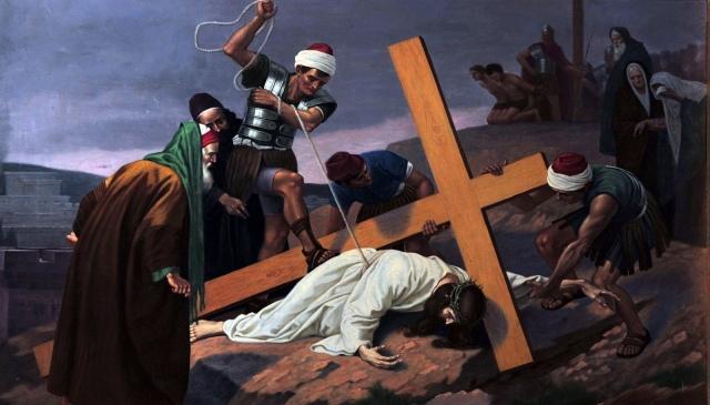 Ninth Station of the Cross, Jesus falls, Amayzing Graces, Karen May