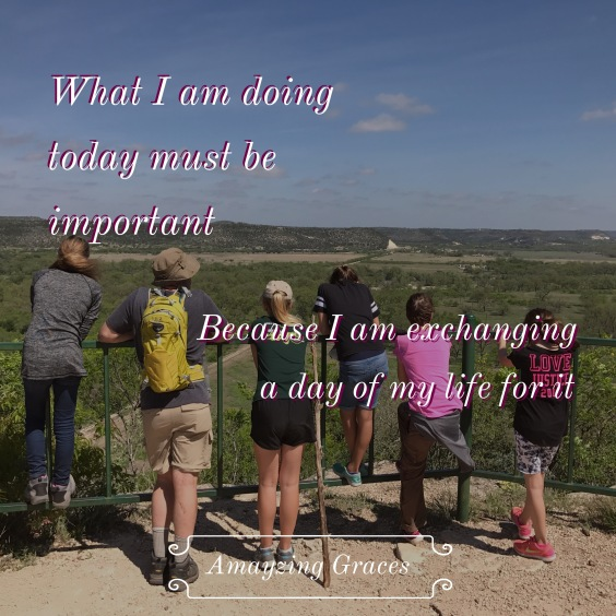 What I am doing today must be important, Amayzing Graces, Karen May