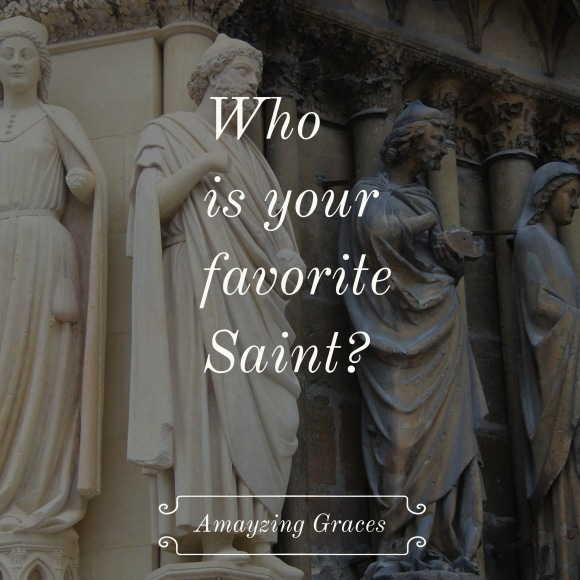 Who is your favorite Saint? inspiration, Amayzing Graces, Karen May