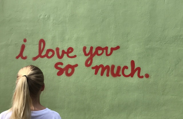 I love you so much, mural, show me a sign, Amayzing Graces, Karen May