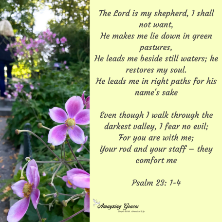 Psalm 23, The Lord is my shepherd, Amayzing Graces, Karen May