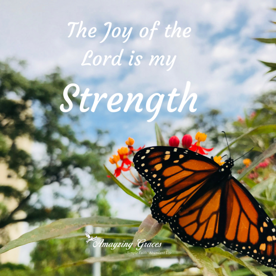 The Joy of the Lord is my strength, Inspirational quote, Karen May, Amayzing Graces