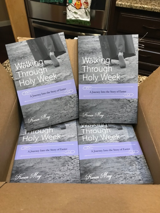 Walking Through Holy Week, Karen May, Amayzing Graces, Proofs, pre-sale