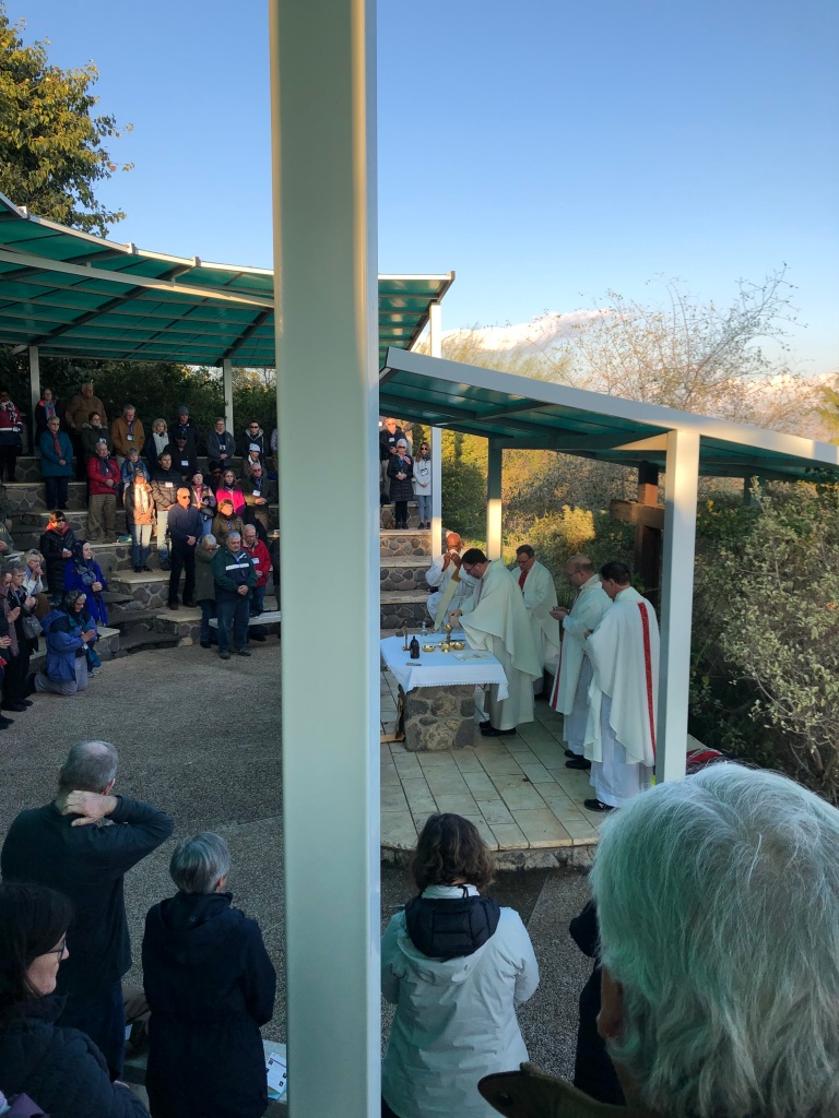 Mass at the Mount of the Beatitudes, Karen May, Amayzing Graces